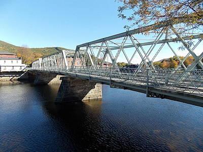 Main Street Bridge Shelbourne Falls  Art Print