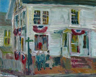 Painting - Main Street Edgartown by Edward Ching