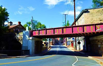 Art Print featuring the photograph Main Street - Ellicott City by Dana Sohr