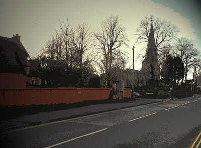 Junction Drawing - Main Street In Breaston, The Junction With Bourne Square by Litz Collection