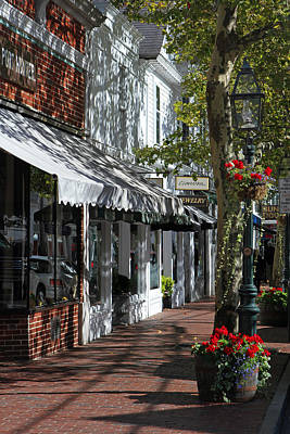 Travel Pics Royalty-Free and Rights-Managed Images - Main Street in Edgartown by Juergen Roth