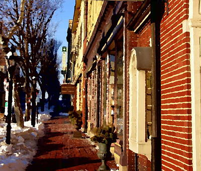 Photograph - Main Street In Historic Bethlehem by Jacqueline M Lewis