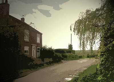 Main Street In Hollington, Heading Out Of The Village Art Print by Litz Collection