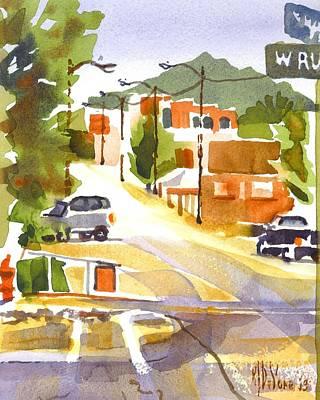 Main Street Corners Painting - Main Street Ironton Missouri 2 by Kip DeVore