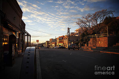 Photograph - Main Street Jerome Arizona by Ron Chilston