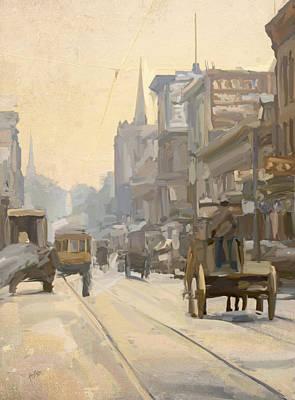Briex Painting - Main Street by Nop Briex
