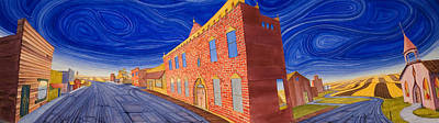 Townscape Painting - Main Street Panoramic by Scott Kirby
