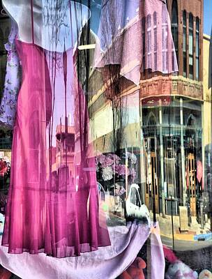 Main Street Reflections Art Print