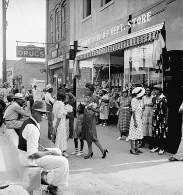 Black Commerce Photograph - Main Street Shoppers, 1939 by Granger