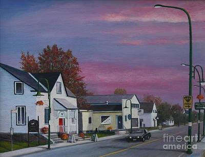 Painting - Main Street Stittsville by Al Hunter