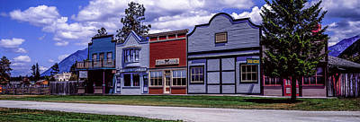 Main Street Storefronts At Fort Steele Art Print