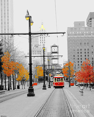 Digital Art - Main Street Trolley  by Lizi Beard-Ward