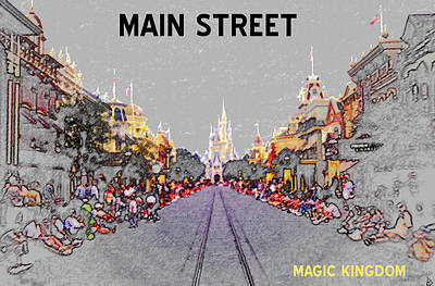 Main Street U.s.a. Art Print by David Lee Thompson