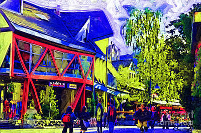 Digital Art - Main Street Whistler by Kirt Tisdale