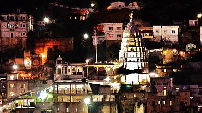 Photograph - Main Temple At Night - Omkareshwar India by Kim Bemis