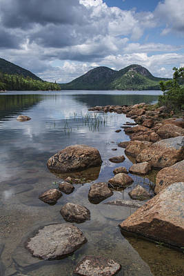 Jordan Photograph - Maine Acadia Jordan Pond The Bubbles by Andy Gimino