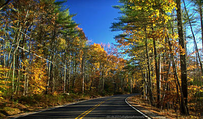 Popstar And Musician Paintings Royalty Free Images - Maine Autumn Drive Royalty-Free Image by Catherine Melvin