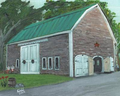 Maine Barns Painting - Maine Barn by Cliff Wilson