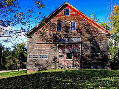 Maine Barn Art Print by Marcia Lee Jones