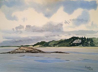 Maine Seacoast Painting - Maine Beach House by Robert Fugate
