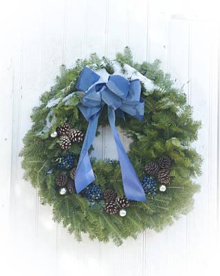 Photograph - Maine Blueberry Wreath  by Alana Ranney