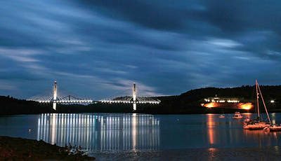 Photograph - Maine Bridge And Fort Knox  by Barbara West