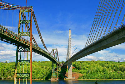 Maine Bridges Print by Barbara West