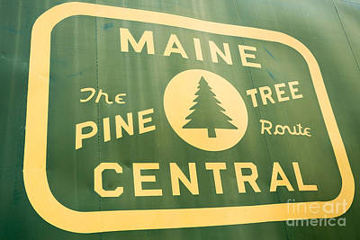 Photograph - Maine Central The Pine Tree Route by Edward Fielding