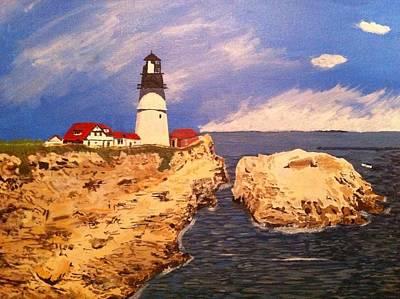 Maine Coast Lighthouse Original by Peter Sabatini