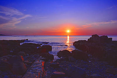 Photograph - Maine Coast Sunrise by Raymond Salani III