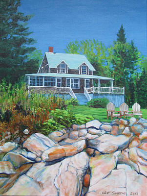 Maine Cottage Art Print