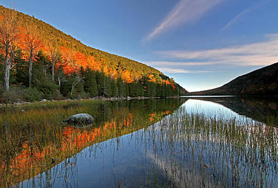 Maine Shore Photograph - Maine Fall Foliage Glory At Bubble Pond  by Juergen Roth
