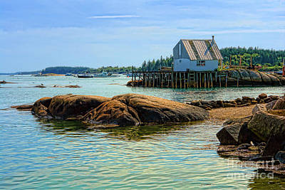 Maine Coast Photograph - Maine Fishing Port by Olivier Le Queinec