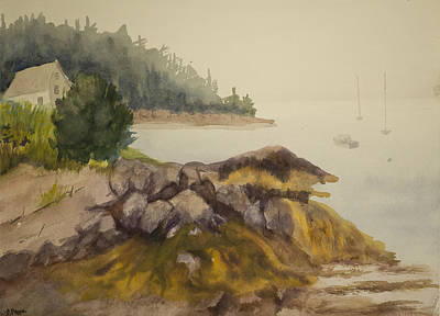 Painting - Maine Fog by Peggy Poppe