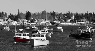 Maine Harbor Art Print by Karin Pinkham