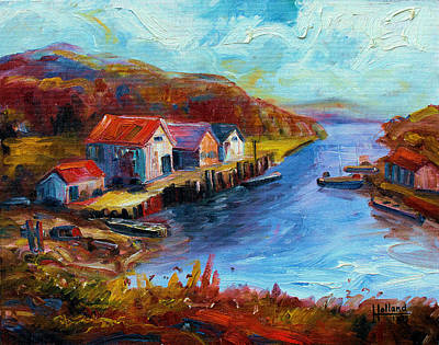 Painting - Maine Harbor by Leonard Holland