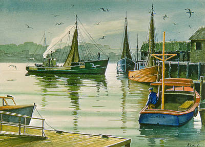Harbor Painting - Maine Harbor by Paul Krapf