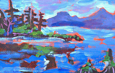 Painting - Maine In Blue by Shirin Shahram Badie