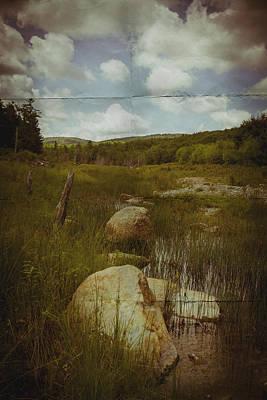 Maine Landscape Acadia National Park Clouds Art Print