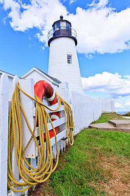 Photograph - Maine Lighthouse by Ben Graham