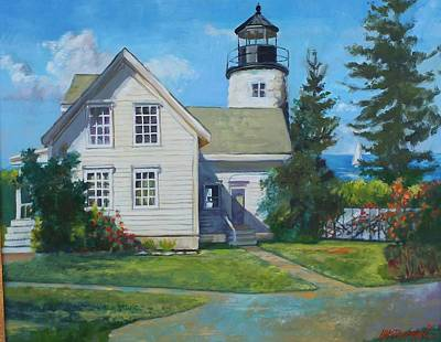 Painting - Maine Lighthouse by Michael McDougall