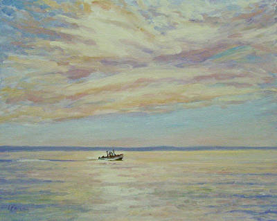 Lobster Boat Maine Painting - Maine Morning by Lynne Brown
