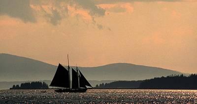 Schooner Photograph - Maine Schooner by Doug Barber