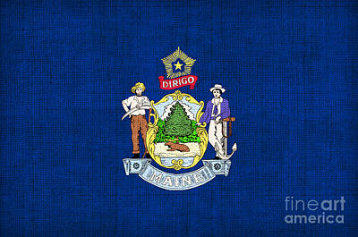 Maine State Flag Art Print by Pixel Chimp