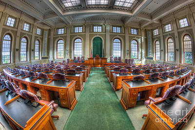 Capitol Building Photograph - Maine State House House Chamber IIi by Clarence Holmes