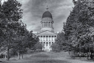 Photograph - Maine State House Iv by Clarence Holmes