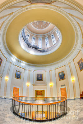 Photograph - Maine State House Rotunda I by Clarence Holmes