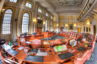 Photograph - Maine State House Senate Chamber I by Clarence Holmes