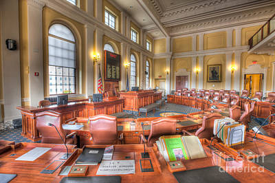 Photograph - Maine State House Senate Chamber IIi by Clarence Holmes