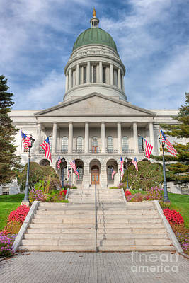 Photograph - Maine State House V by Clarence Holmes